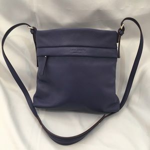 Kate Spade Westbury Purple Leather Handbag New